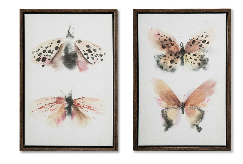 Set of 2 Framed Parchment Wall Art - $24.99