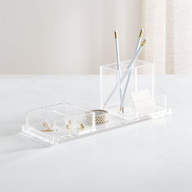 Acrylic Desk Organizer - $41