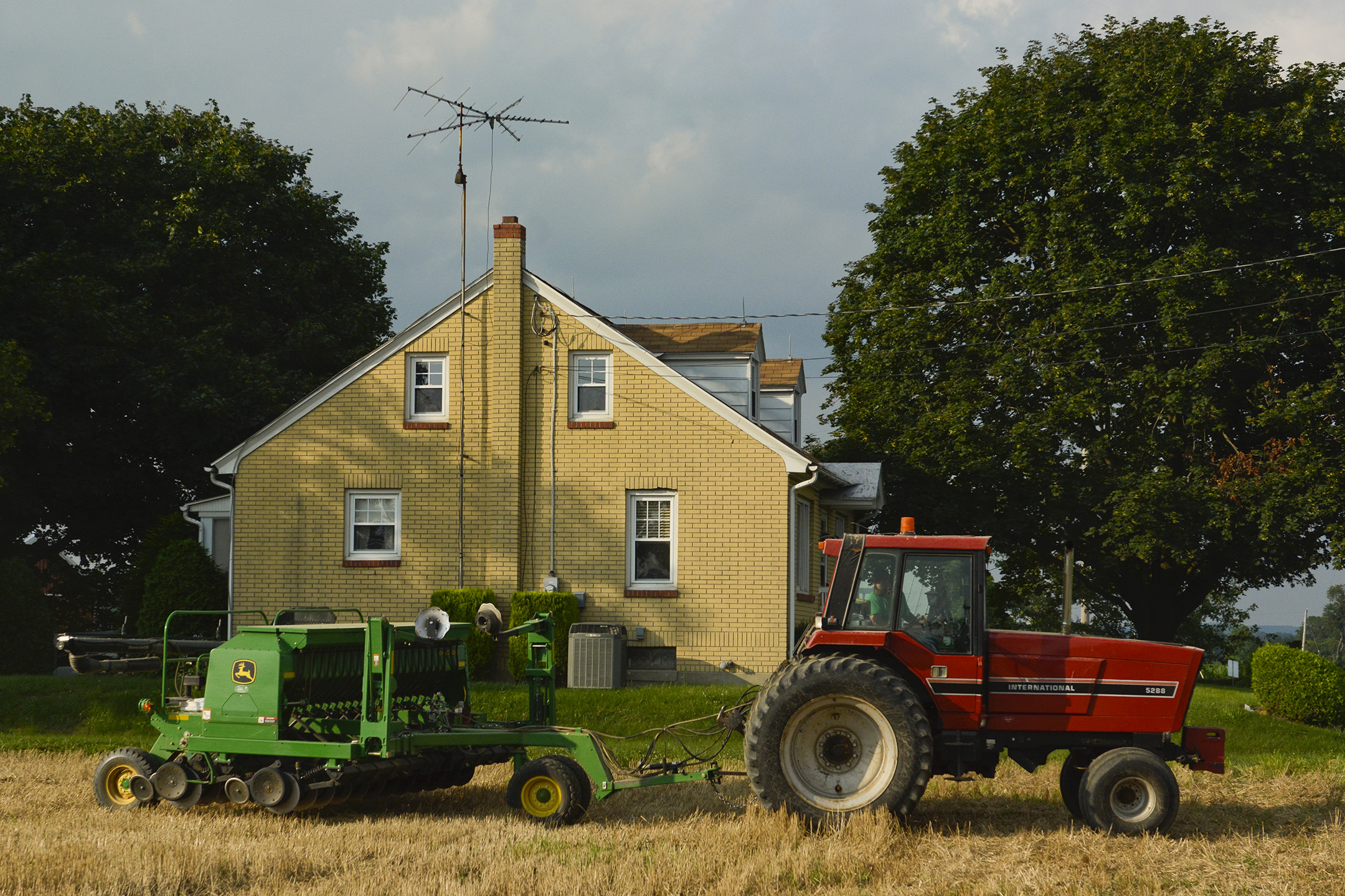 Lee Gauker of Fleetwood works out in the fields at one of the Gauker Family's properties in Fleetwood.
