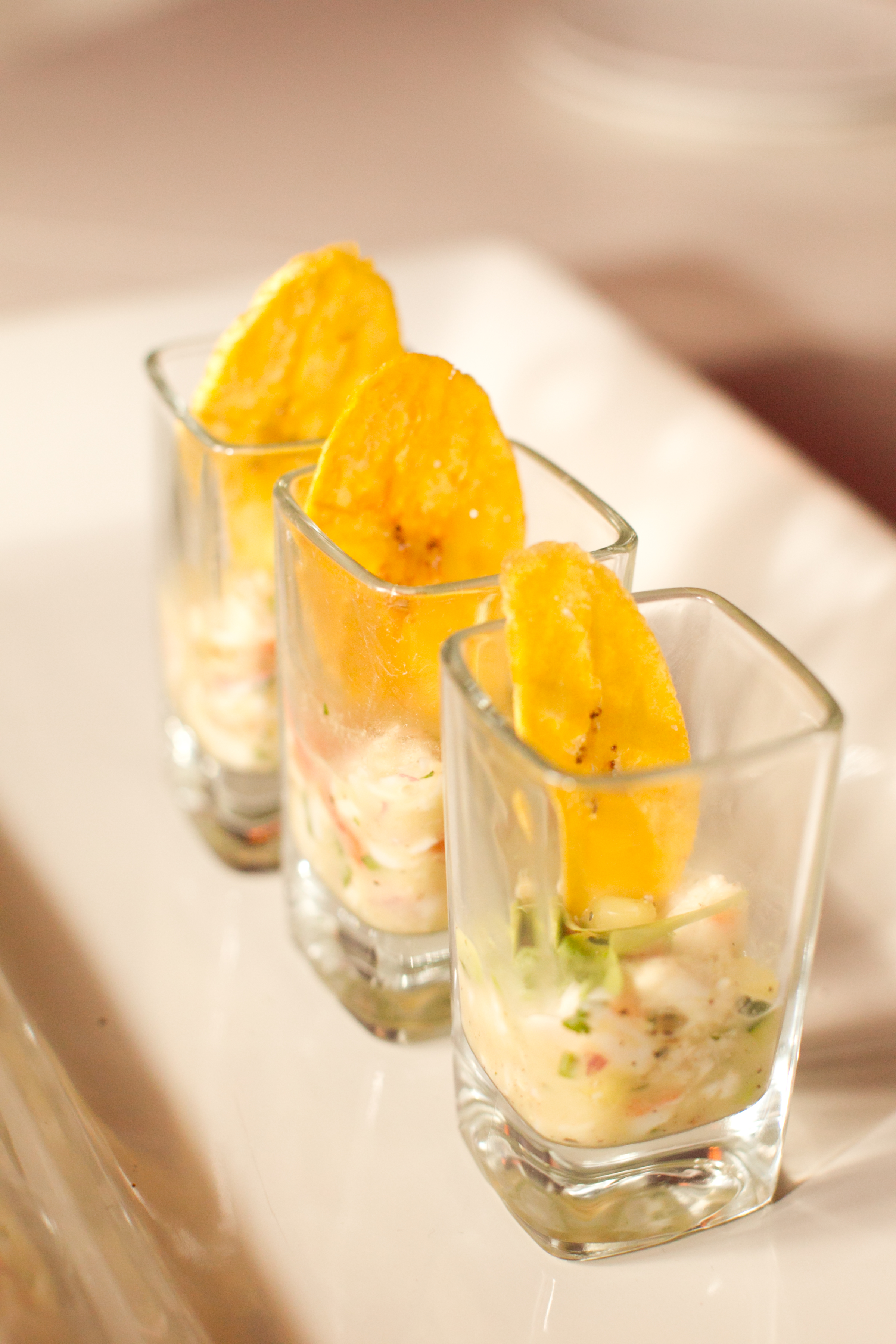 Ceviche Shooter with Plantain Chip
