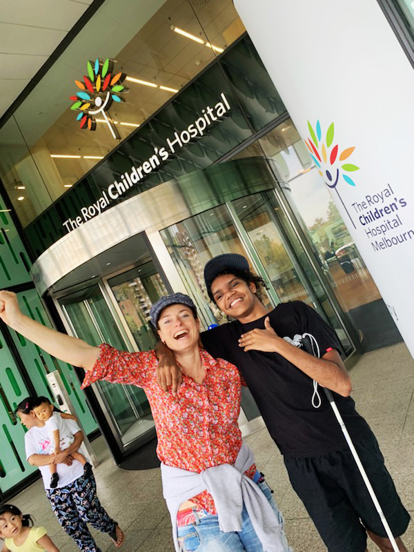 The elation's obvious as Tanya and Cebby leave the Royal Children's Hospital after 120 days.