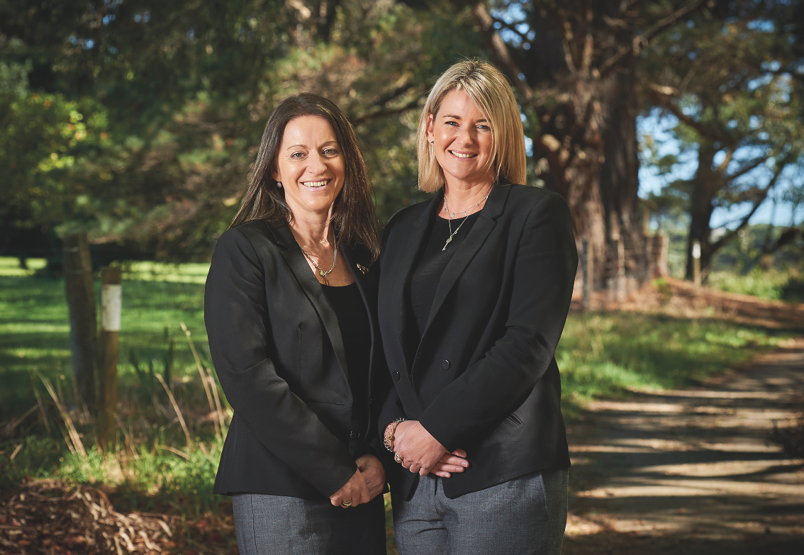 Peninsula Travel manager Vicki Carmichael, left, and managing director Allison Yeates.