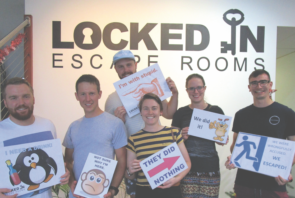 Locked in Escape Rooms  Challenge yourself and your closest friends this winter at Locked in Escape Rooms.