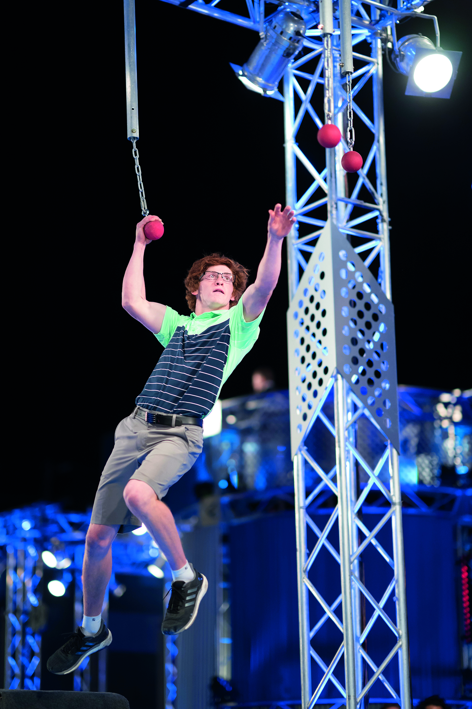 Charlie Robbins is on top of the world after being crowned the 2019 Australian Ninja Warrior 'furthest and fastest' contestant.  Photos courtesy Nine Network