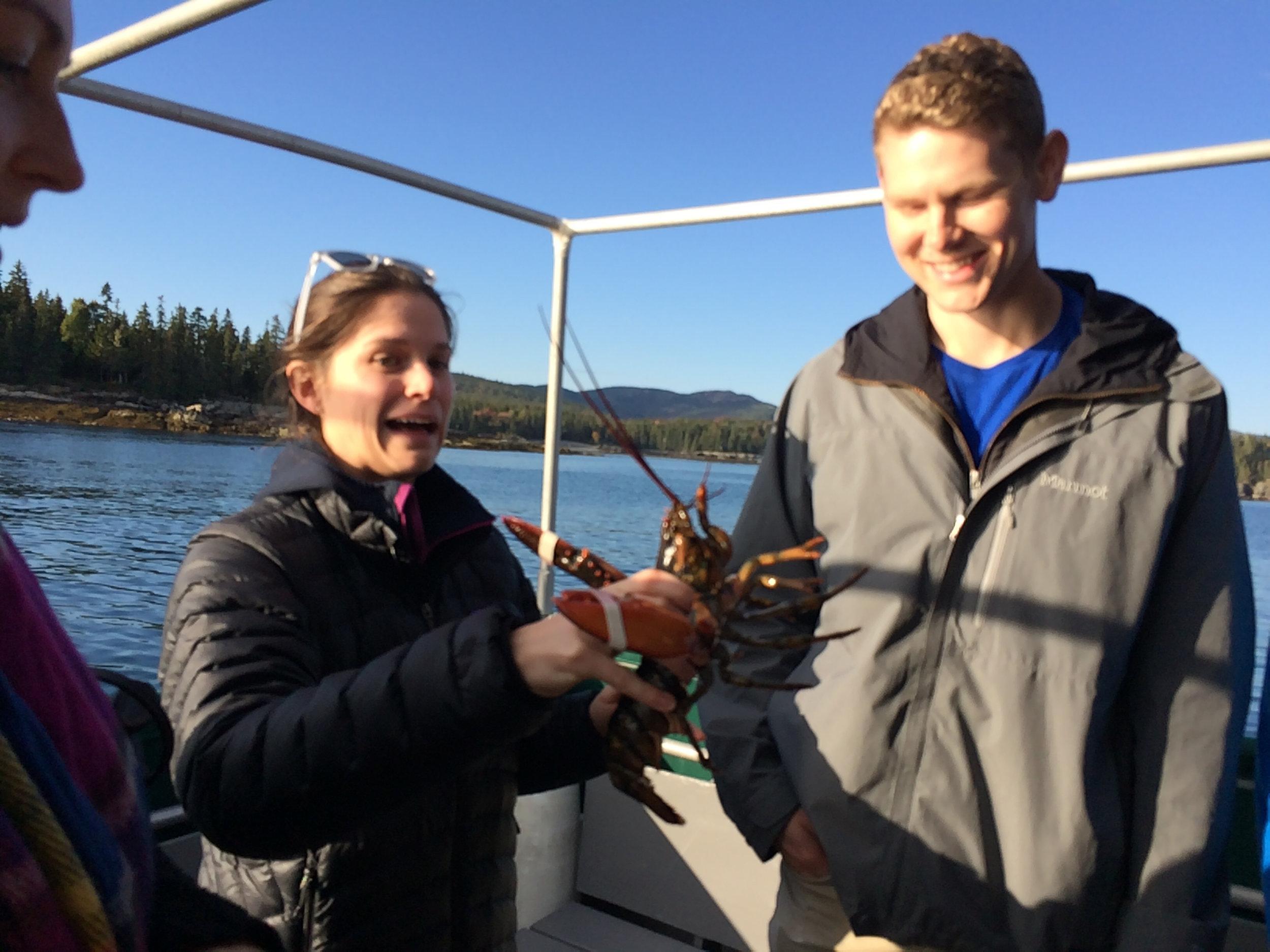 Heather and Blake meet the wildlife.