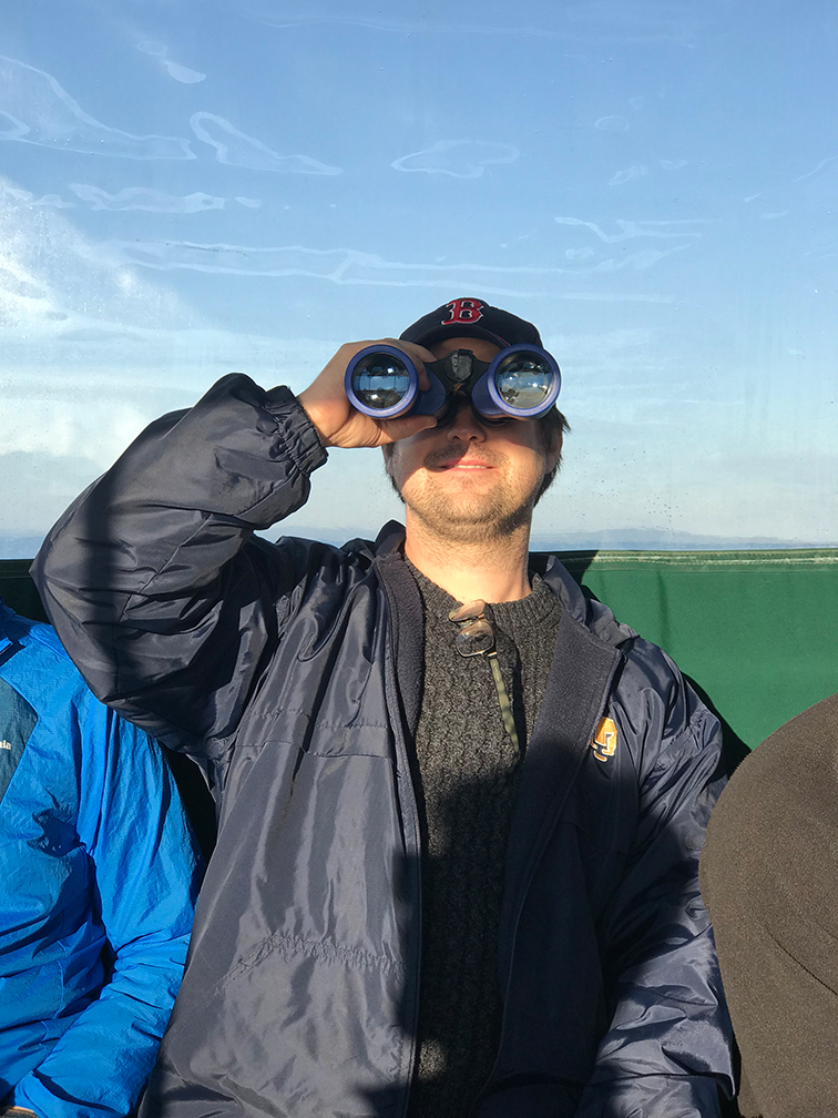 Erik checks out the sea lions