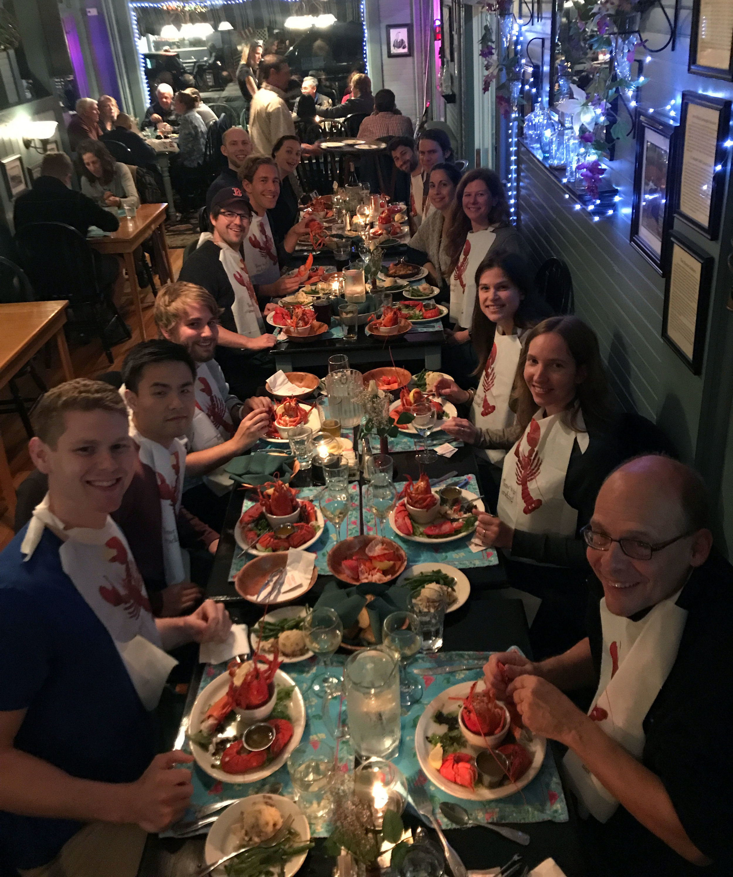 As always, we end with a lobster dinner!