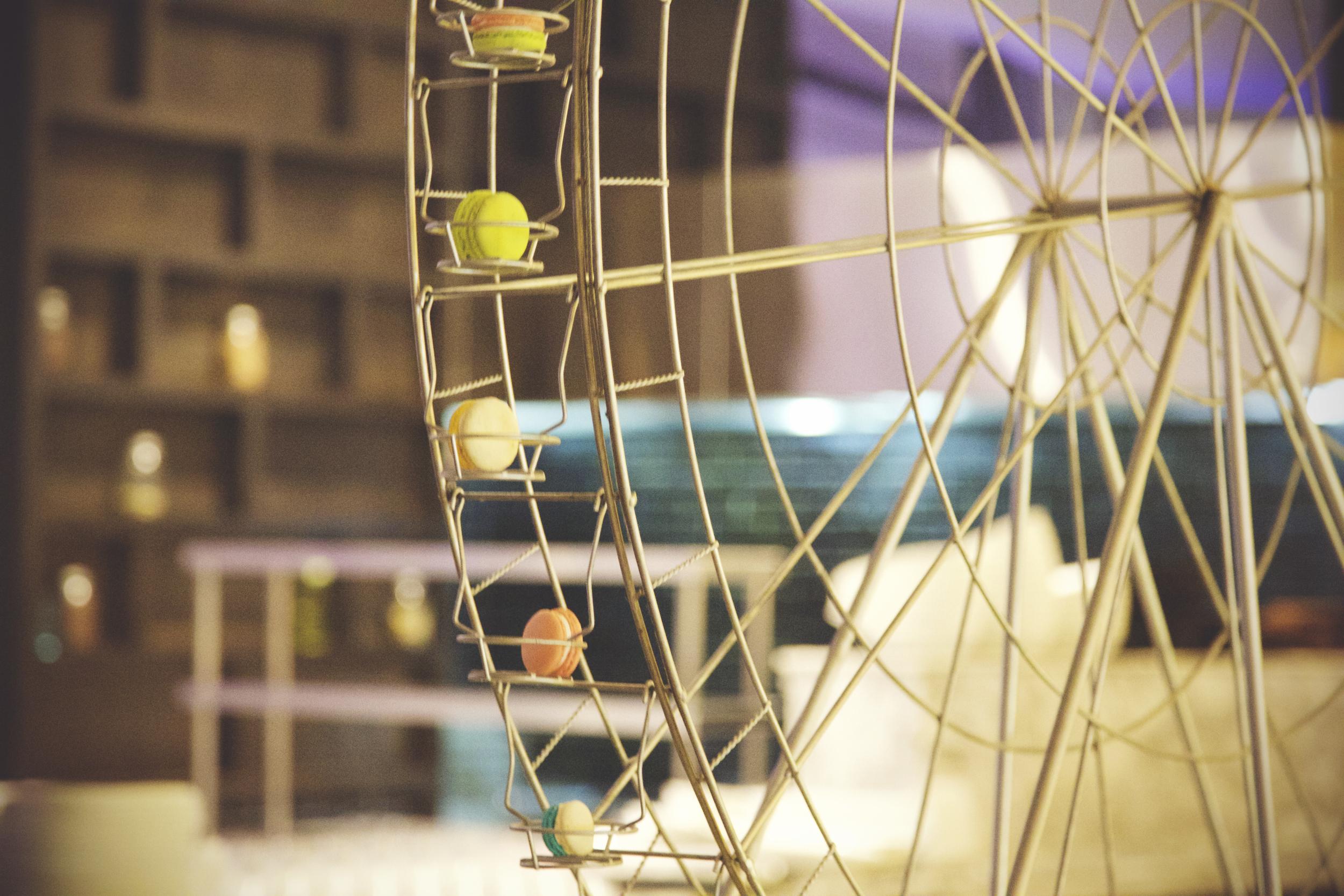 A macaron ferris wheel?! Dreams do come true!