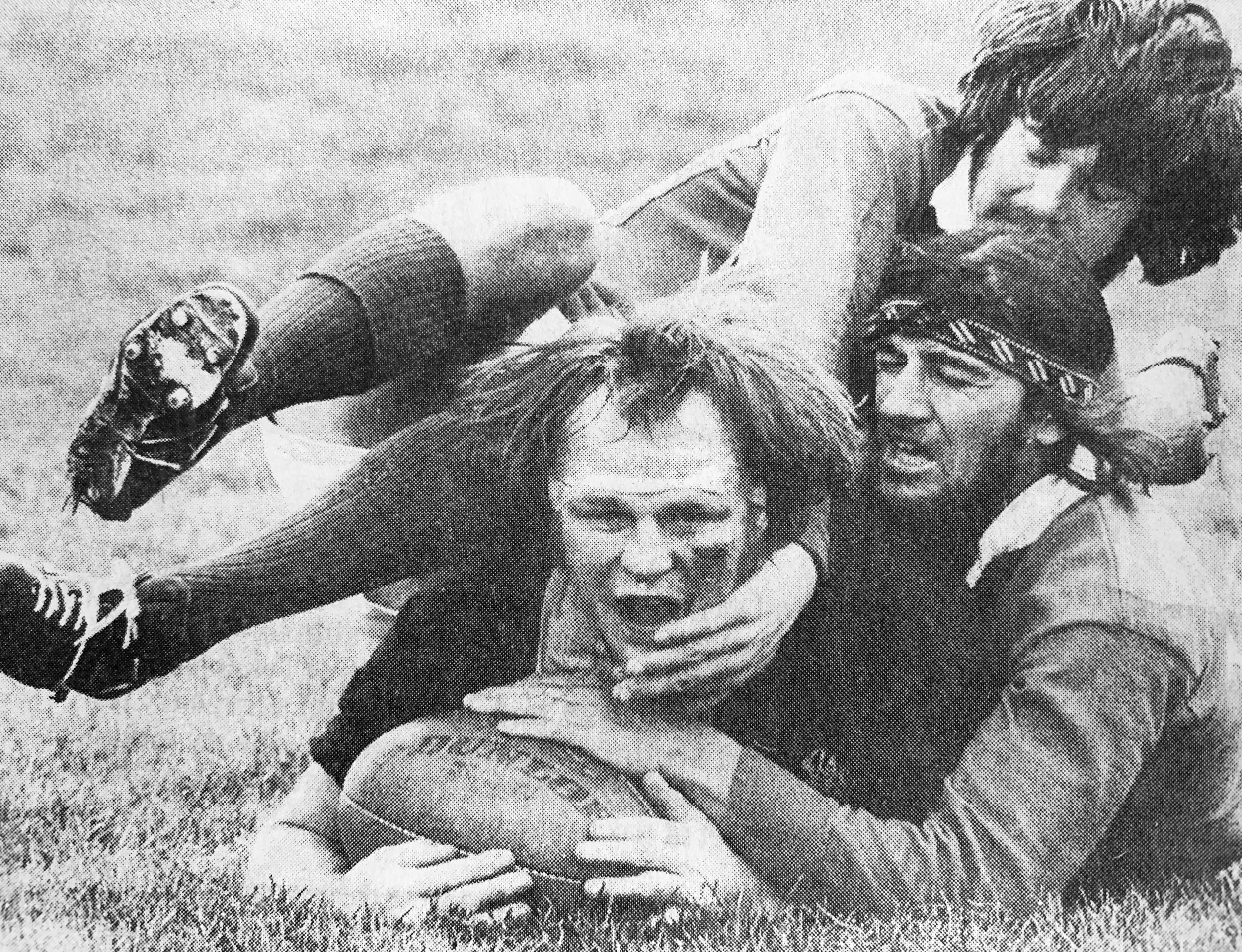 Alice's family ties even extend to her dad (far right) playing for poverty bay from 1976 to 79, including in first 5/8 position against the Lions led by Ian Kirkpatrick in 1977.