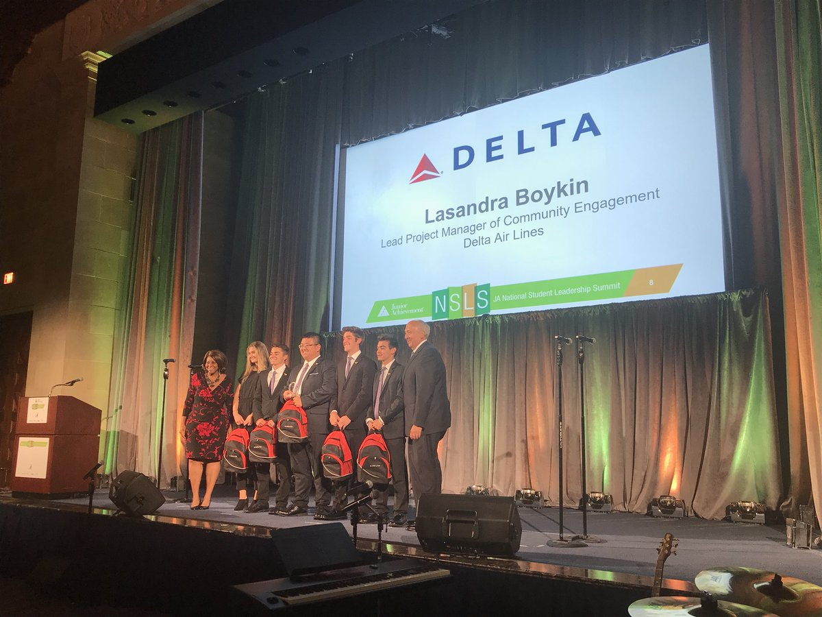 BeelieveInc from JA of East Central Ohio won the Delta Social Impact Award!