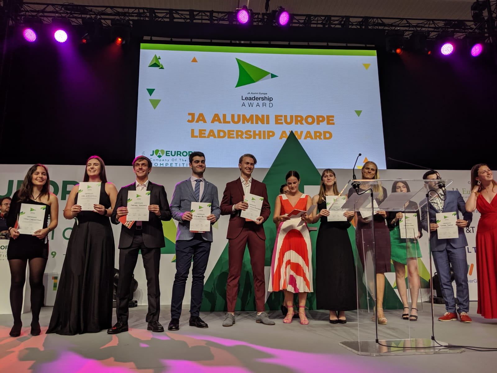 2019 JA Alumni Leadership Award Winners