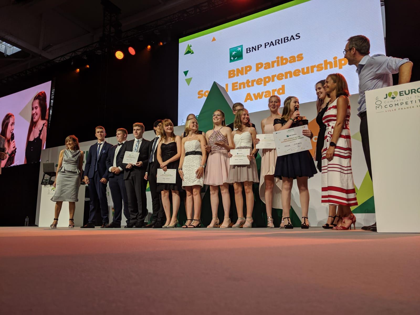 Meehr Schülerfirma, winner of the 2019 BNP Paribas Social Entrepreneurship Award.