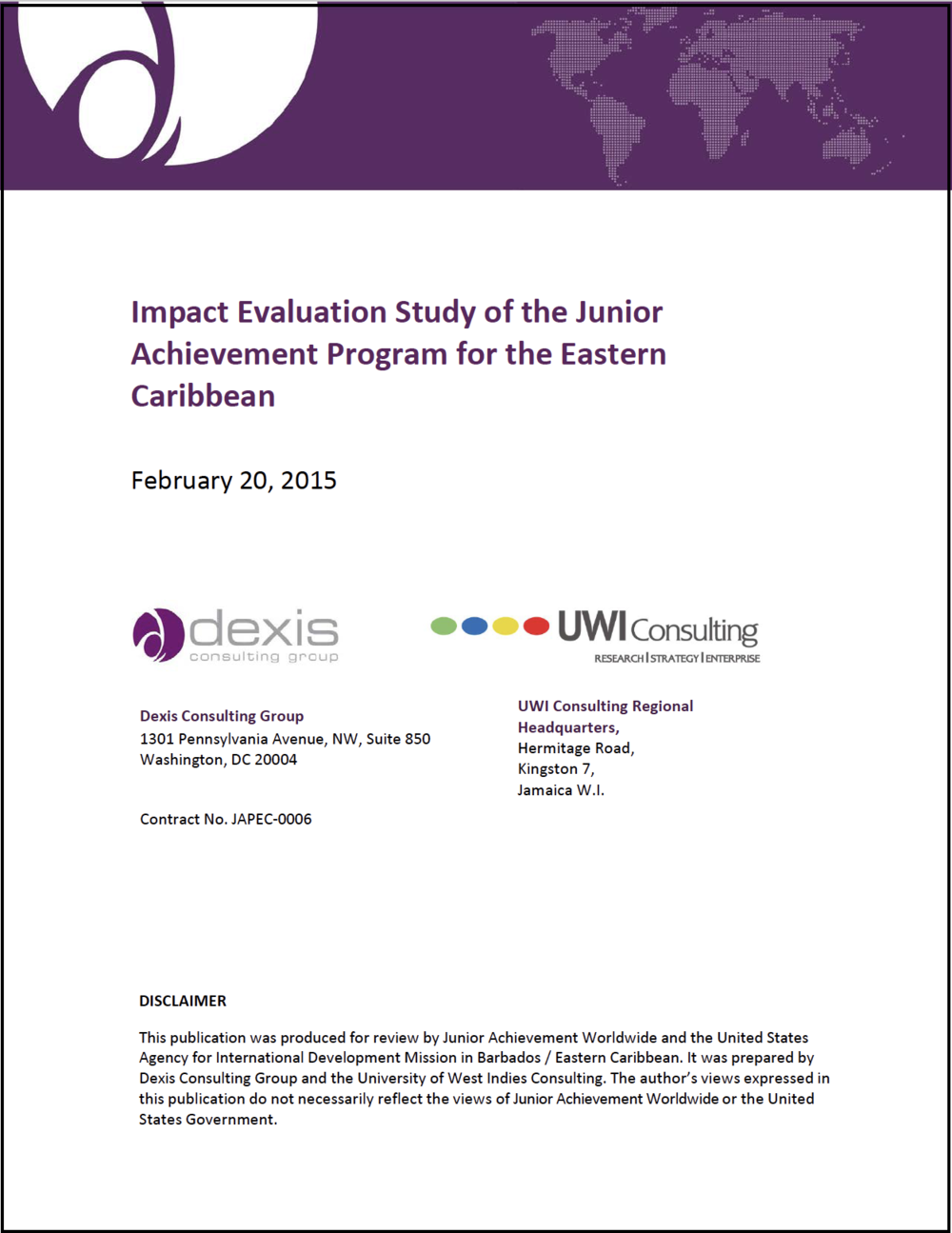 04-Impact Evaluation Study of the Junior Achievement Program for the Eastern Caribbean-cover.png
