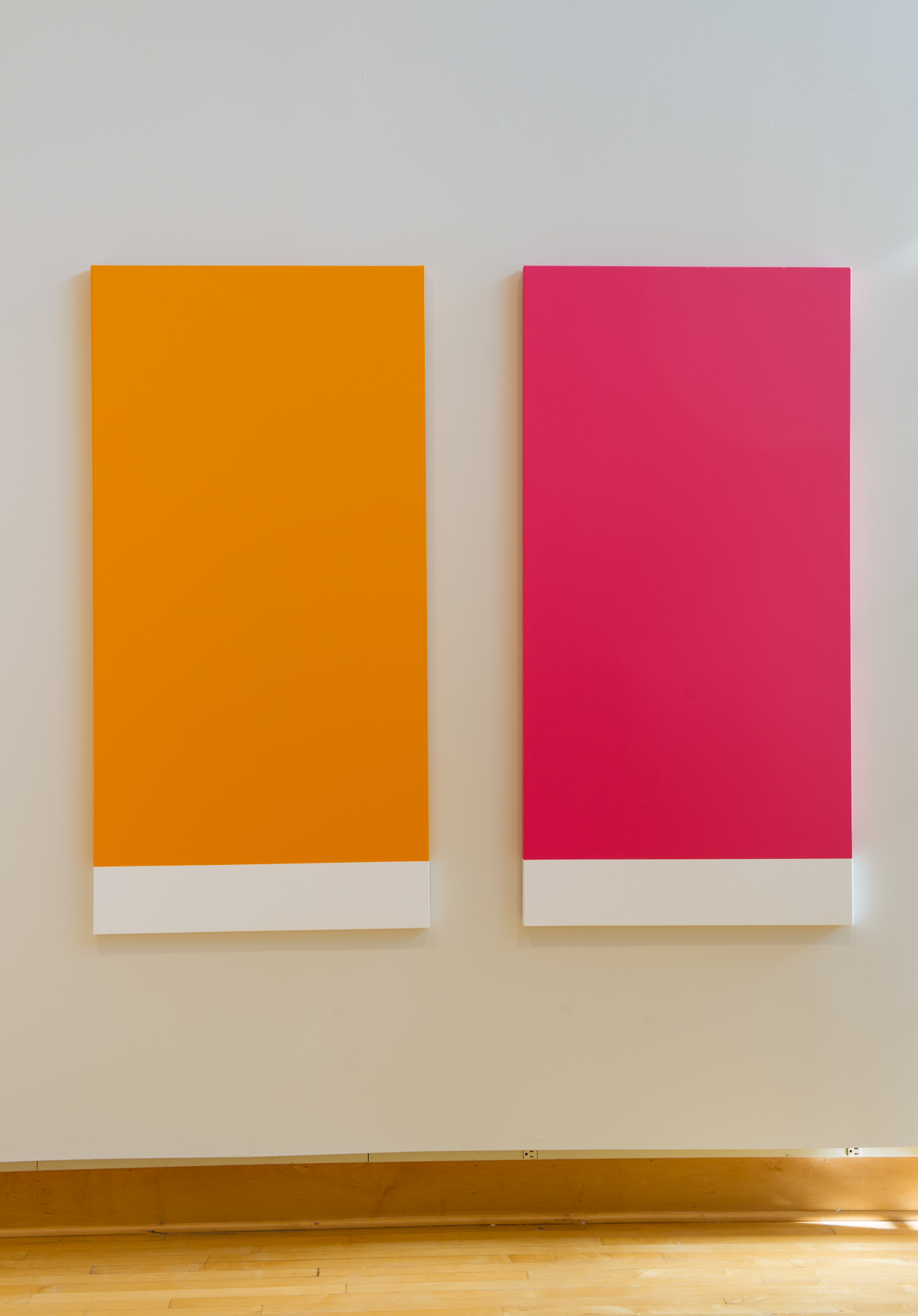 Orange Rectangle, 14-1159 & Raspberry Rectangle, 17-1930 (after Kelly)