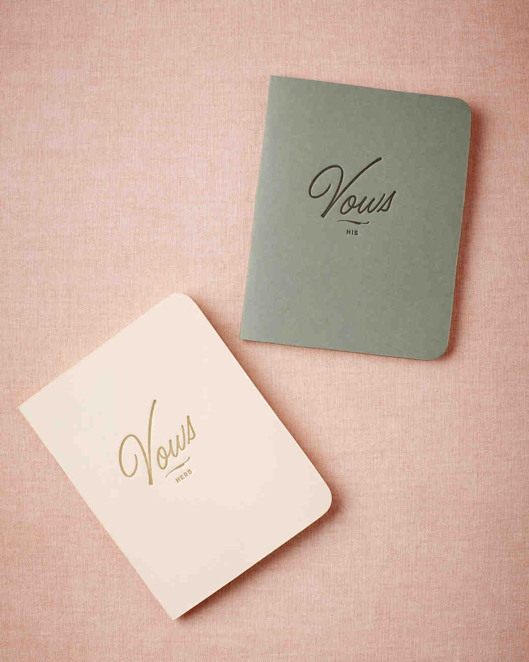 LETTERPRESSED HIS AND HERS JOURNALS | Letterpress Vow Journals, $28,  BHLDN.com . | Photography:  BHLDN.com