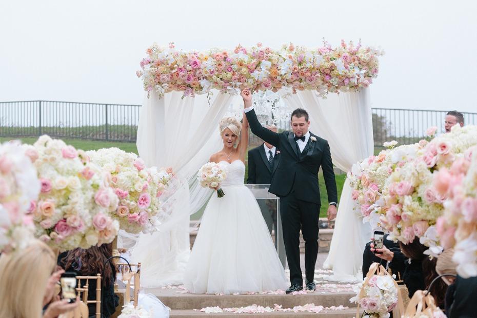 dani and taylor lavish half moon bay wedding