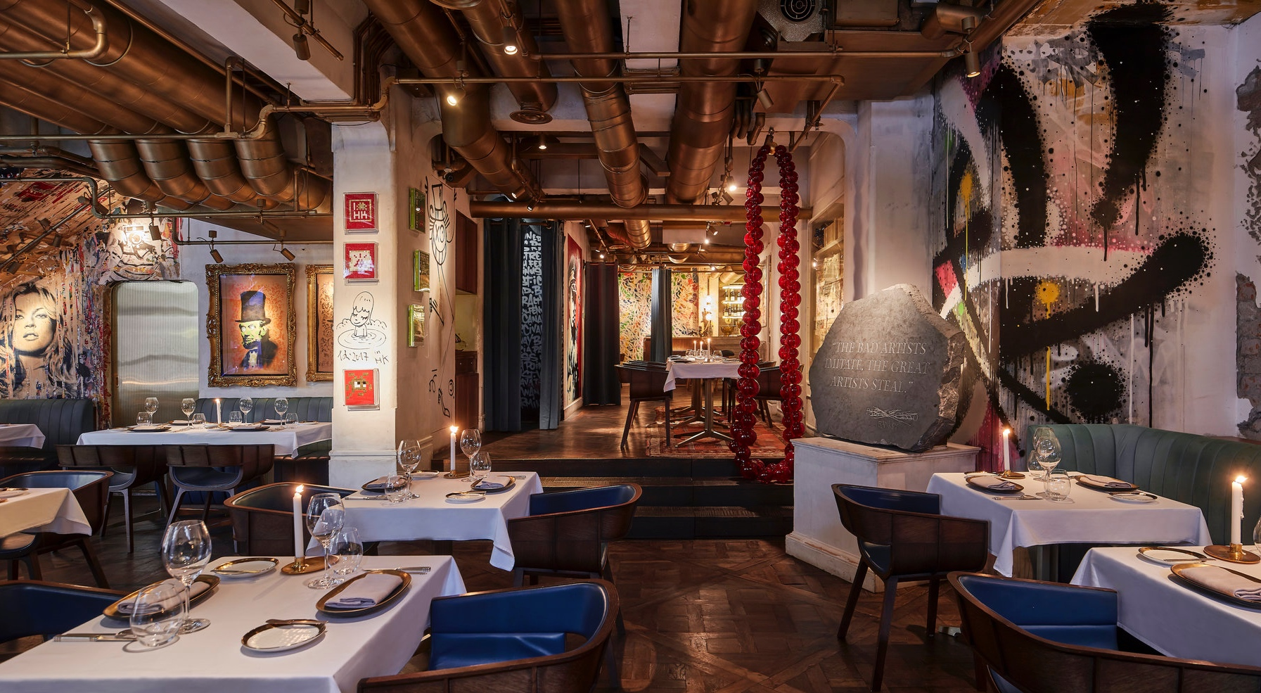 Bibo - Bibo is the embodiment of understated luxury.A space where fine dining meets street art: a dynamic,ground breaking realizatdion of art in all forms, providing guestswith an extravagant French gastronomic journey.Events Capacity60 seats / 120 standing guestsPrivate Dining Room for up to 8 guestsOutside catering is available from Bibo restaurantG/F, 163 Hollywood Road, Sheung Wan, Hong Kong
