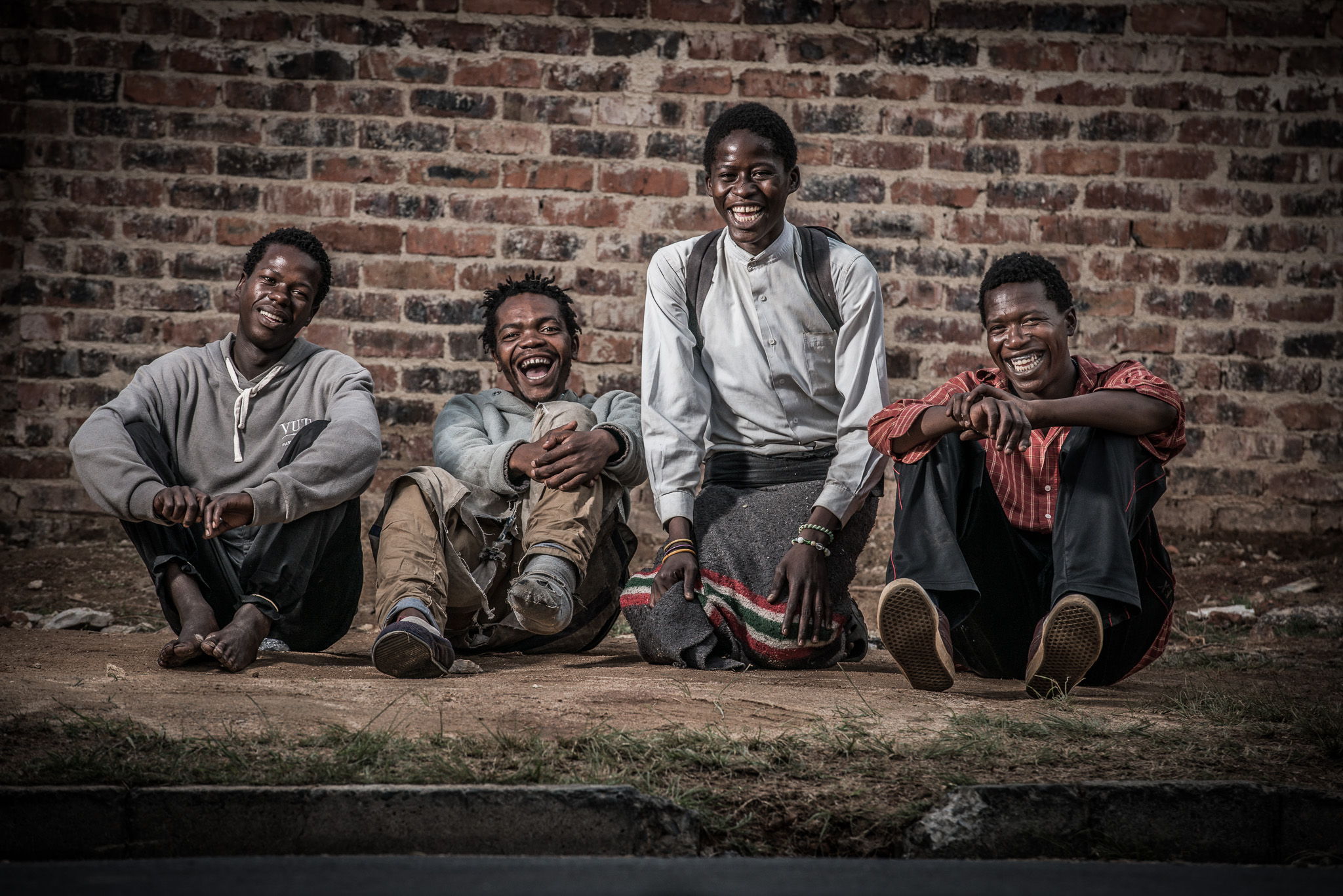 From left: Abel, Thato, Bethuel and Bongi