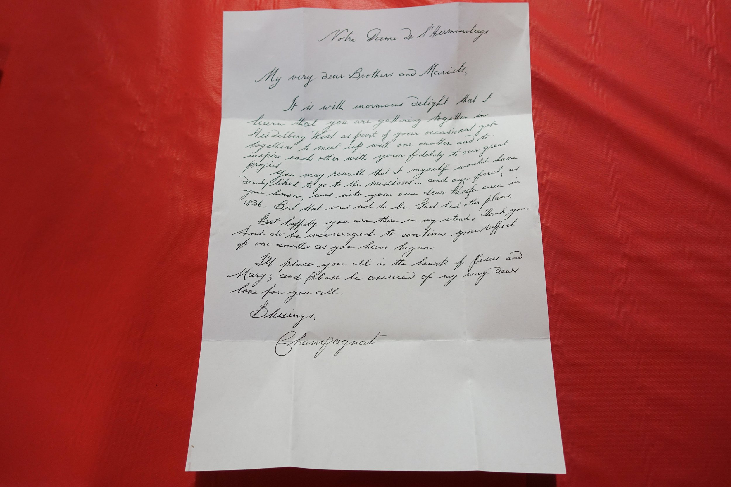 Letter from Father Champagnat