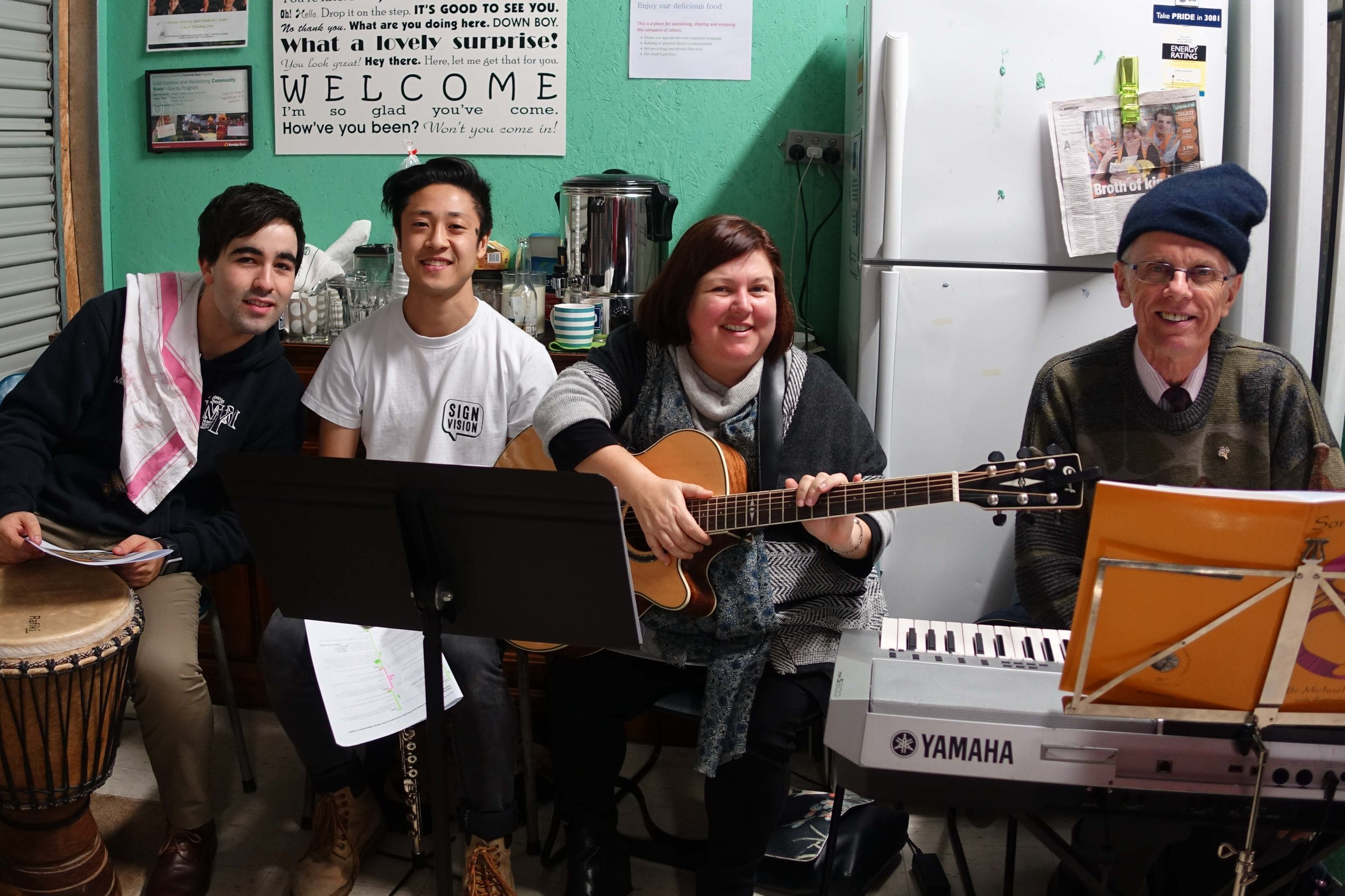 The Band - Jack Stammers - Dan Nguyen - Fiona Dyball - Br. Michael Herry