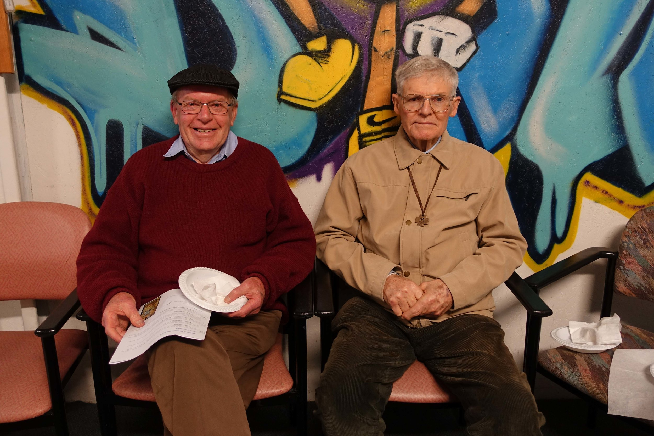 Br. Brian Leak and Br. Arthur Maybon