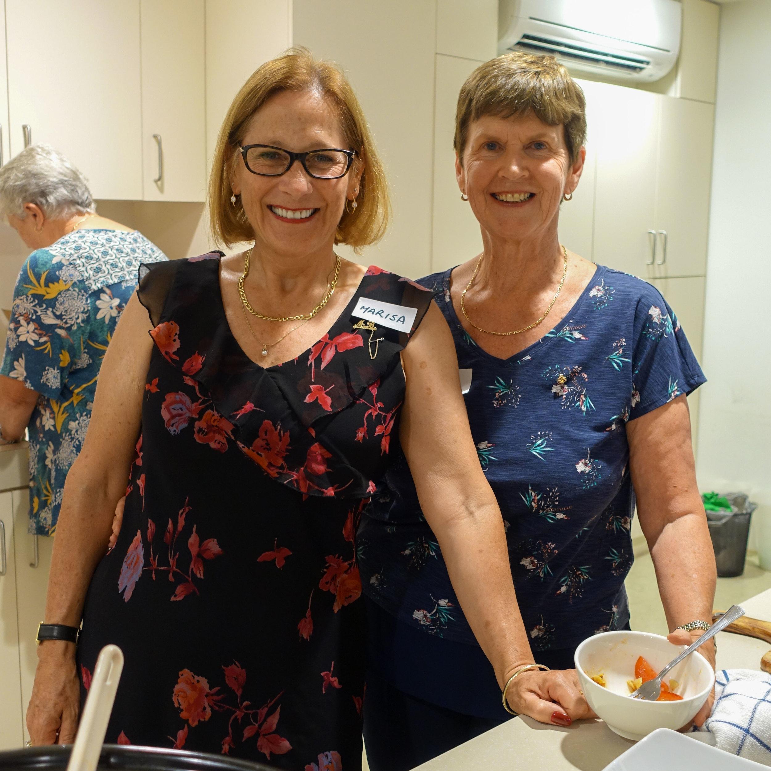 Marisa Bortolotto and Gail Coates - good friends