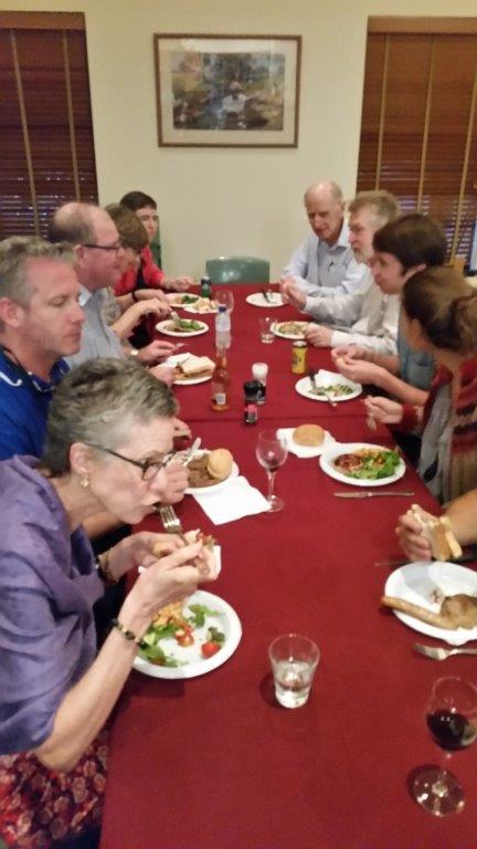 Members enjoying BBQ and social interaction