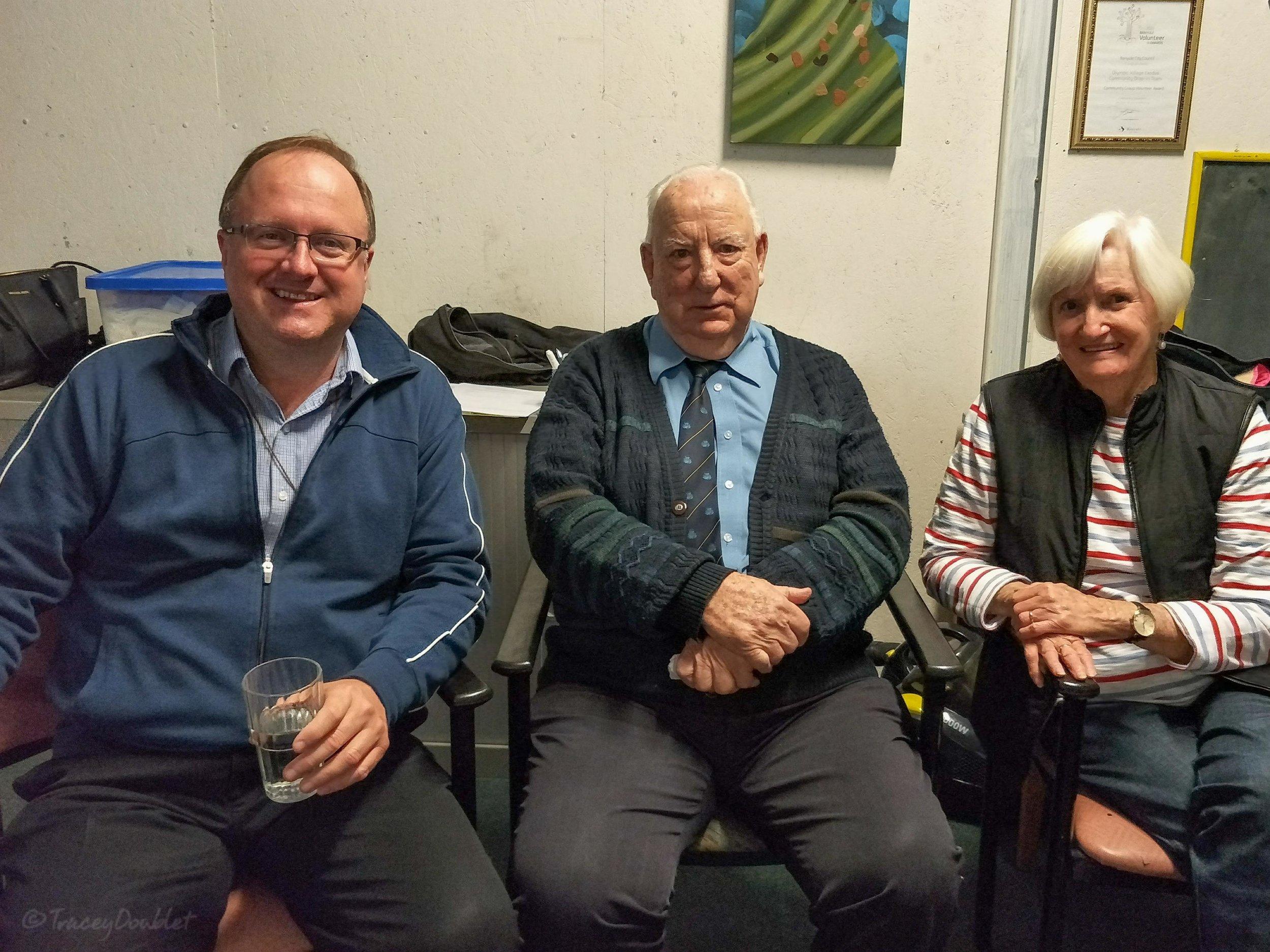 Br Greg, Br Bill, and Maureen