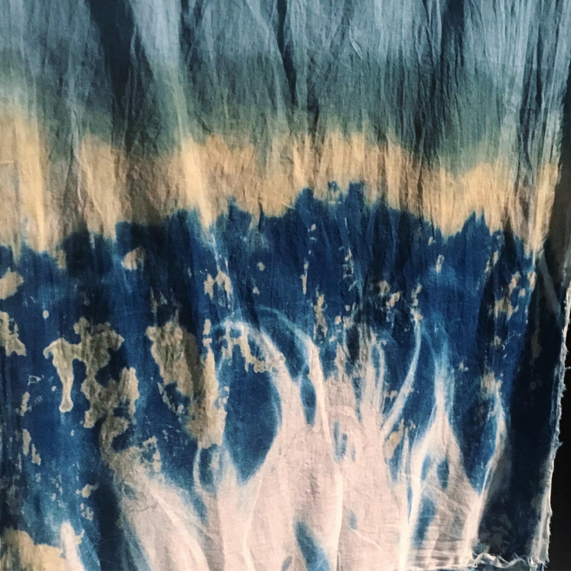 Incantation put to the parliament of crows,    2017, installation image.   Turned ecofuel logs, salvaged timber, glass, cyanotype and indigo on cotton, feathers. Soundscape by Peter Houtmeyers. Dimensions variable