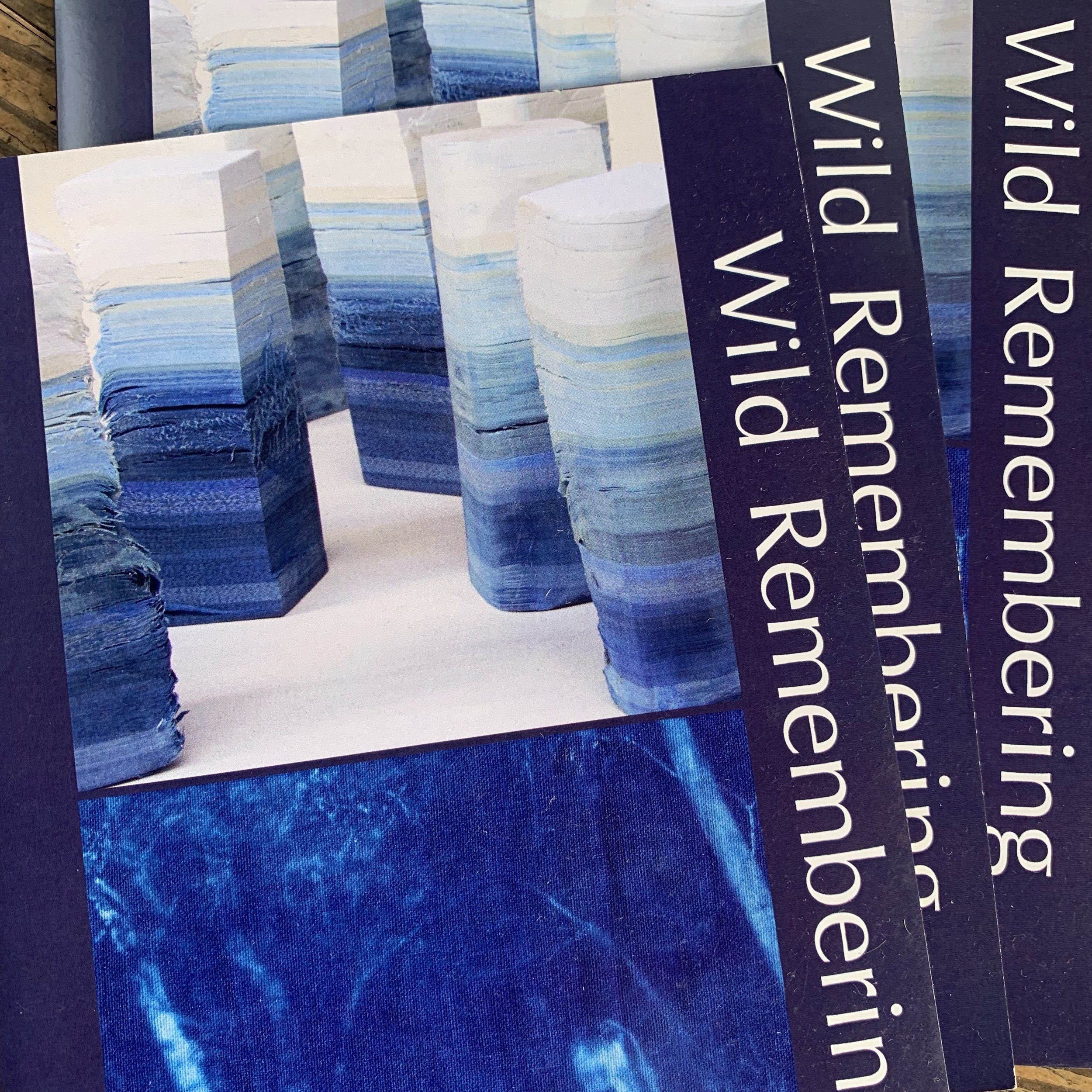 Catalogues produced for Wild Remembering at Webb Gallery.