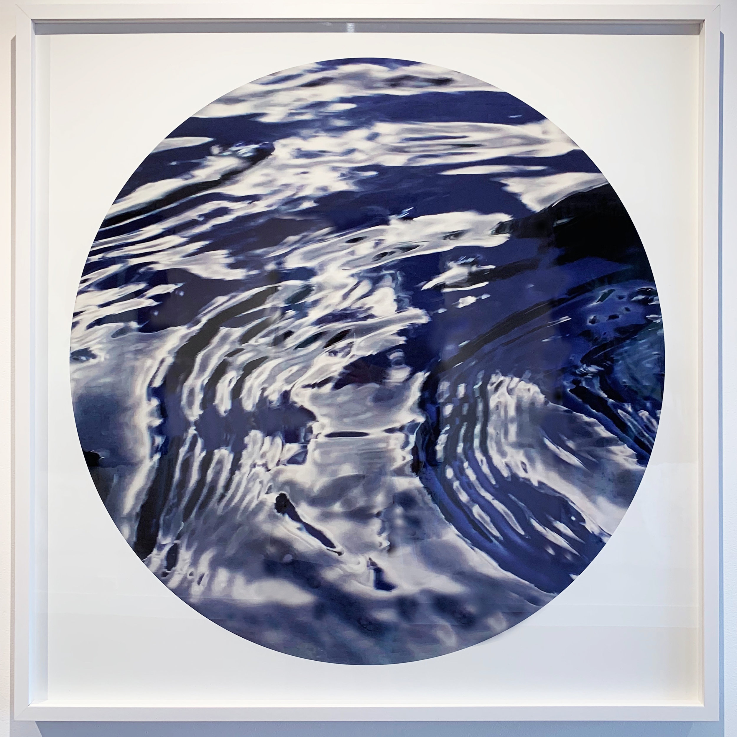 Pieces of Indigo Revealed  #2, 2019, digital print on archival rag paper, framed 90x90cm