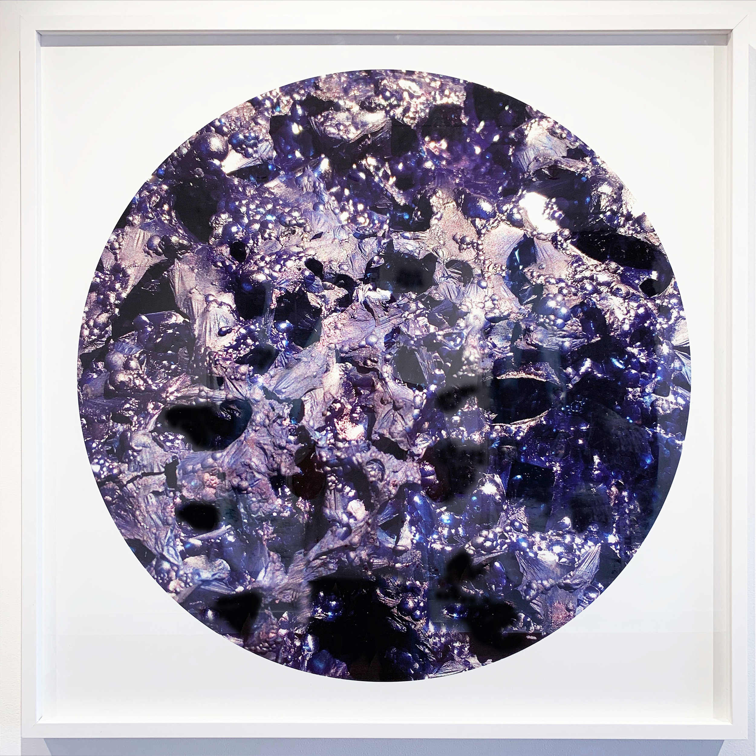Pieces of Indigo Revealed  #4, 2019, digital print on archival rag paper, framed 90x90cm