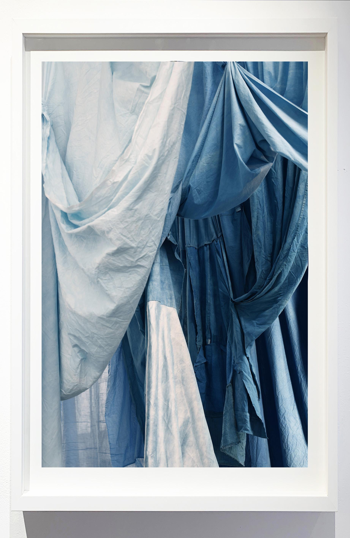 Enfolded landscape #2, 2019.    Photograph of indigo dyed, salvaged textiles.