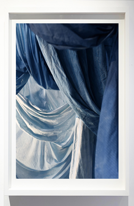 Enfolded landscape #4, 2019.    Photograph of indigo dyed, salvaged textiles.