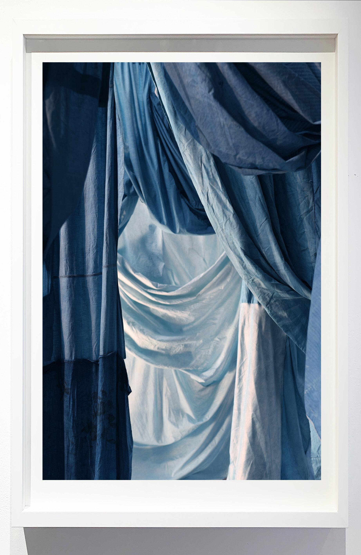 Enfolded landscape #7, 2019.    Photograph of indigo dyed, salvaged textiles.