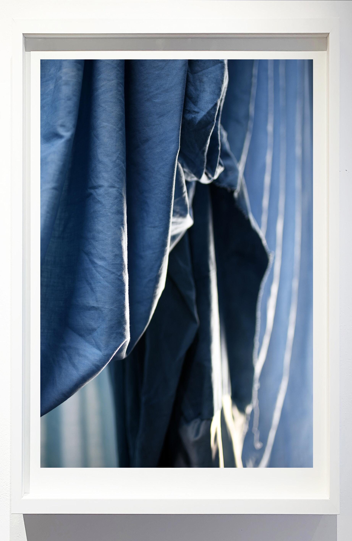 Enfolded landscape #6, 2019.    Photograph of indigo dyed, salvaged textiles.