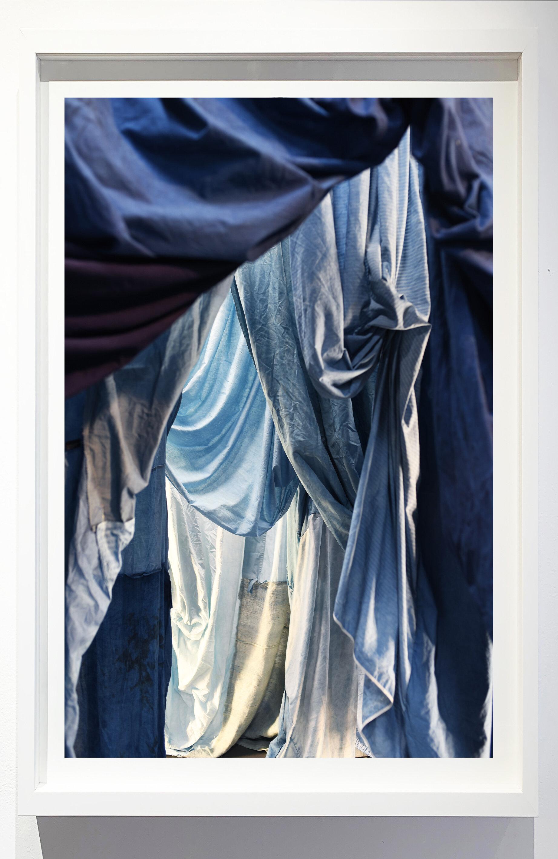 Enfolded landscape #8, 2019.    Photograph of indigo dyed, salvaged textiles.