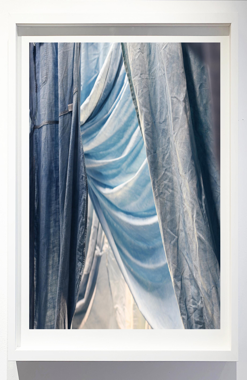 Enfolded landscape #9, 2019.    Photograph of indigo dyed, salvaged textiles.