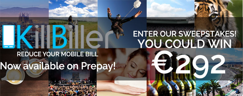 Image of KillBiller competition to win €292