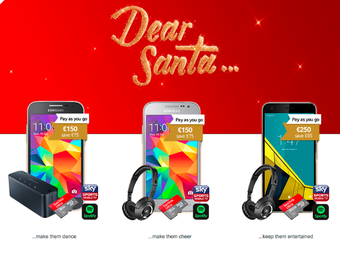 vodafone are offering gift sets with bundles of phones and accessories