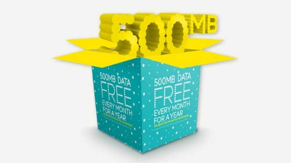 ee 500MB data free every month for a year offer