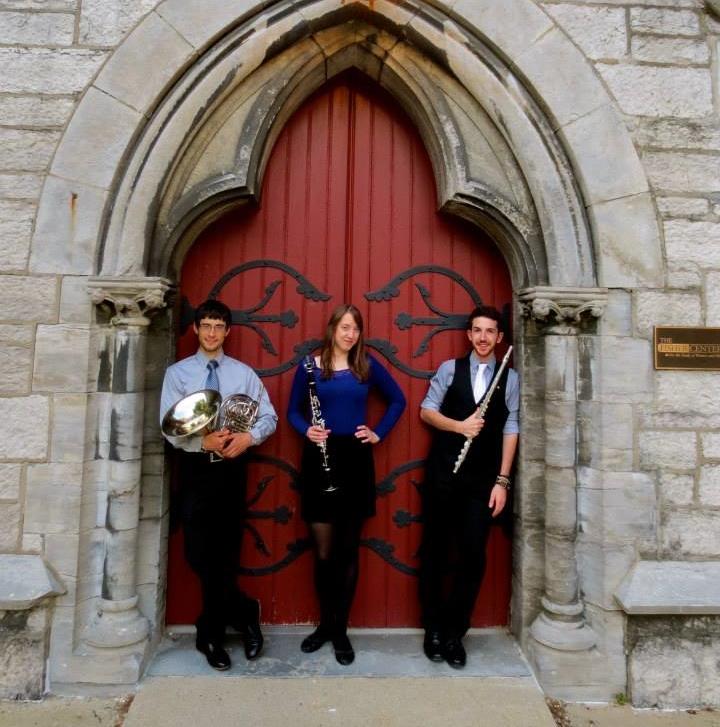 With Tom Fish (horn) and Derek Smilowski (flute) at the Finger Lakes Chamber Music Festival.