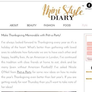 Feeling so honoured to have been included in this weeks @ministylediary write up about my Thanksgiving tips! Don't forget to check it out! #celebratethemoments #londonparties #thanksgiving2015