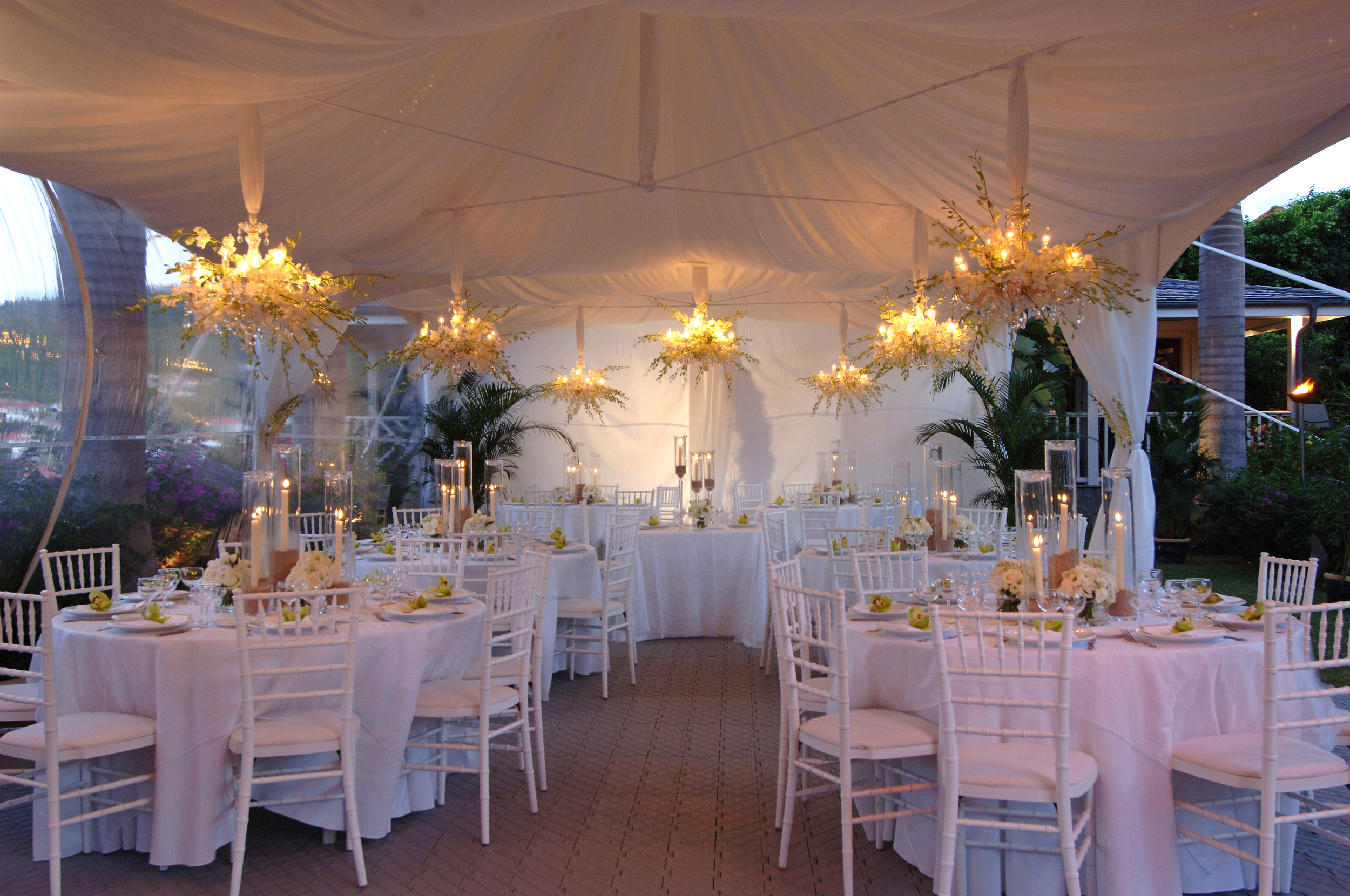 St Barths Private Villa Wedding Reception