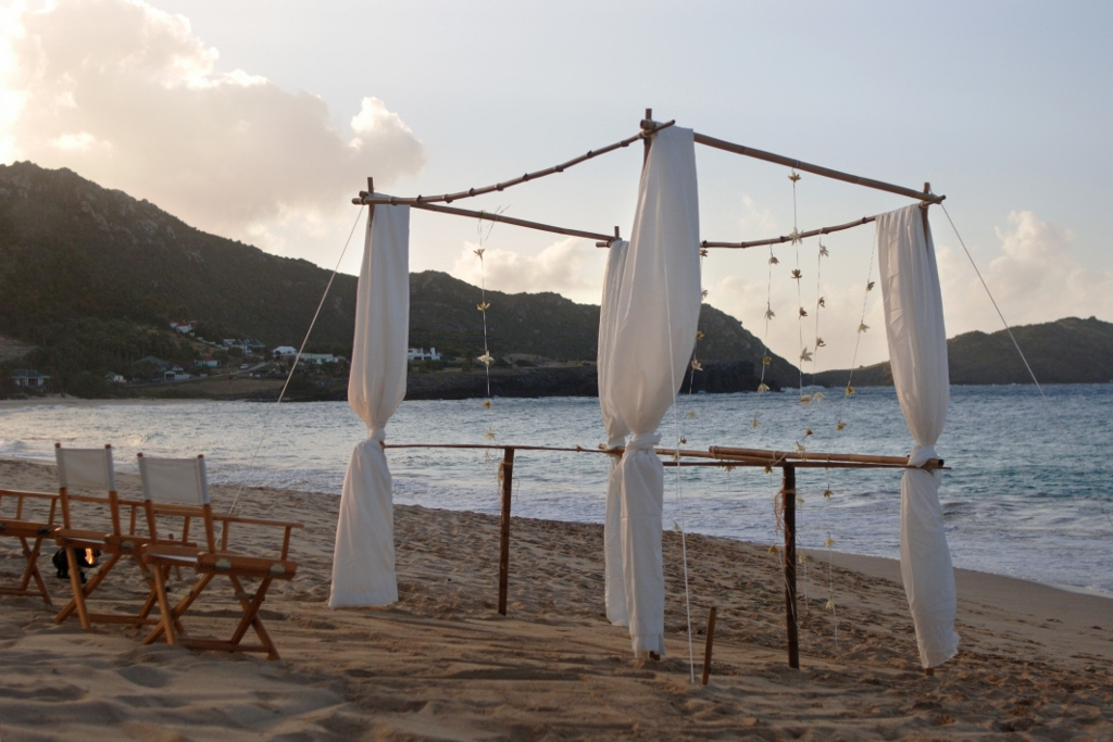 Jewish Wedding Chouppa. St Barths. Beach Wedding.