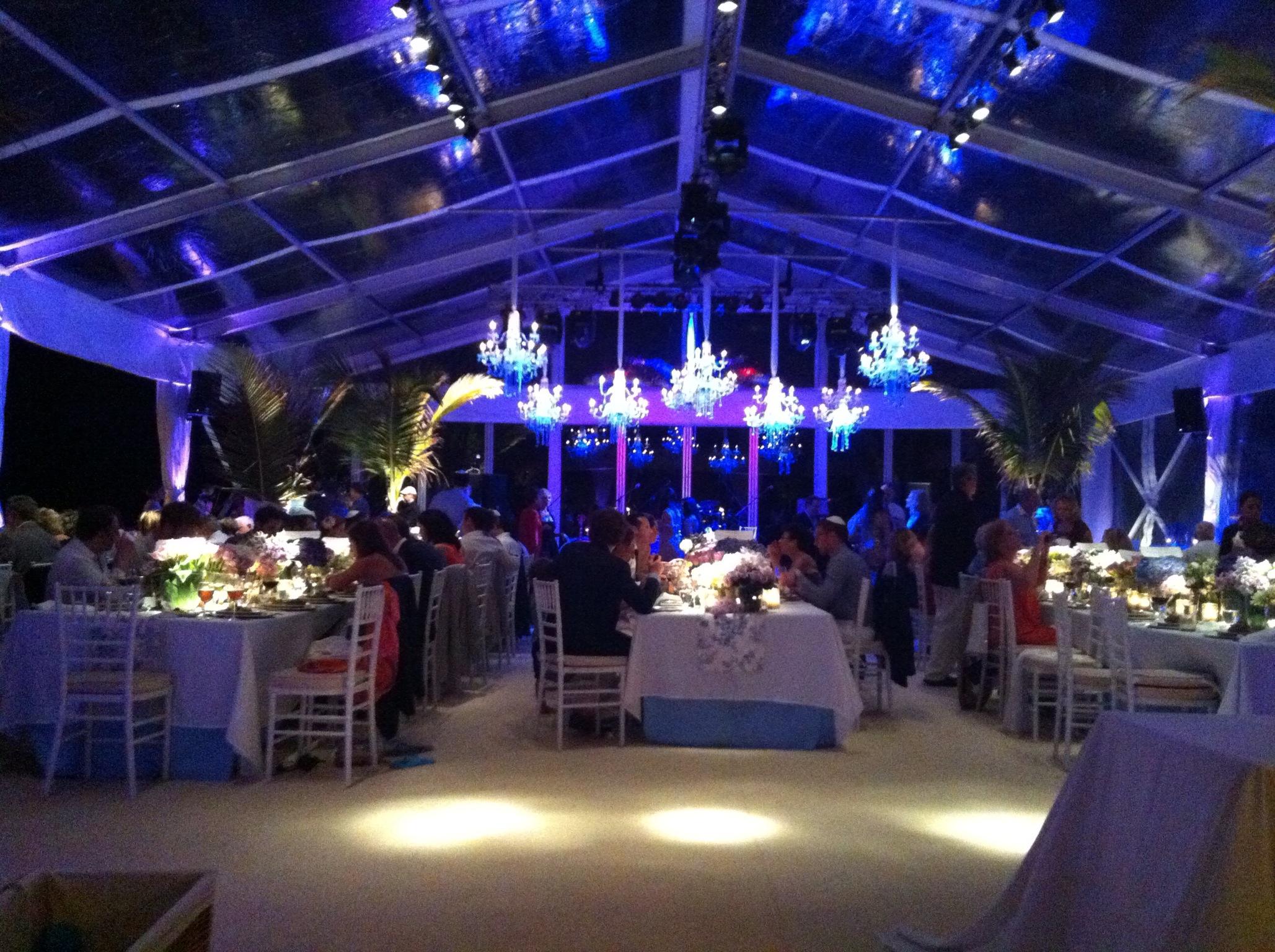Clear Span Tenting St Barths. Luxury Villa Wedding