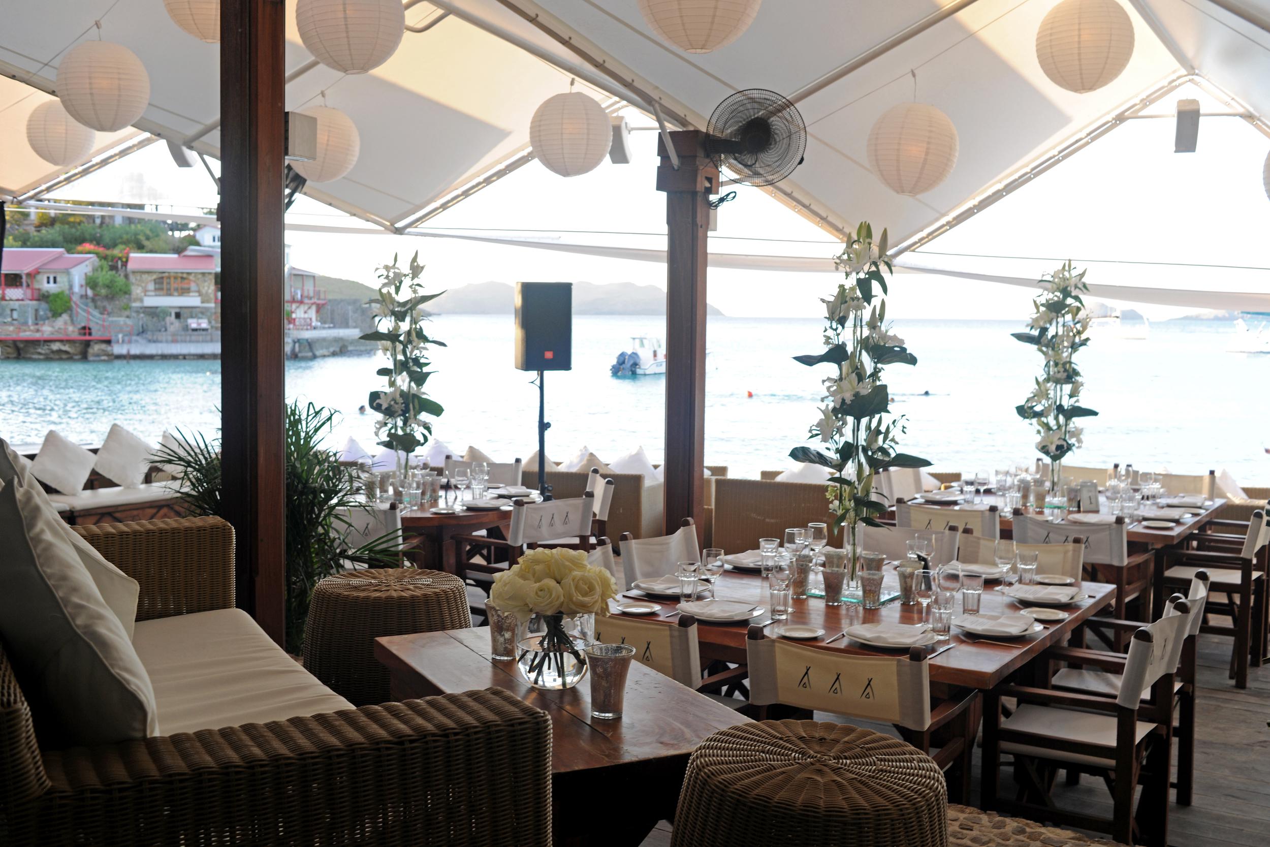 Nikki Beach St Barths. Wedding Reception