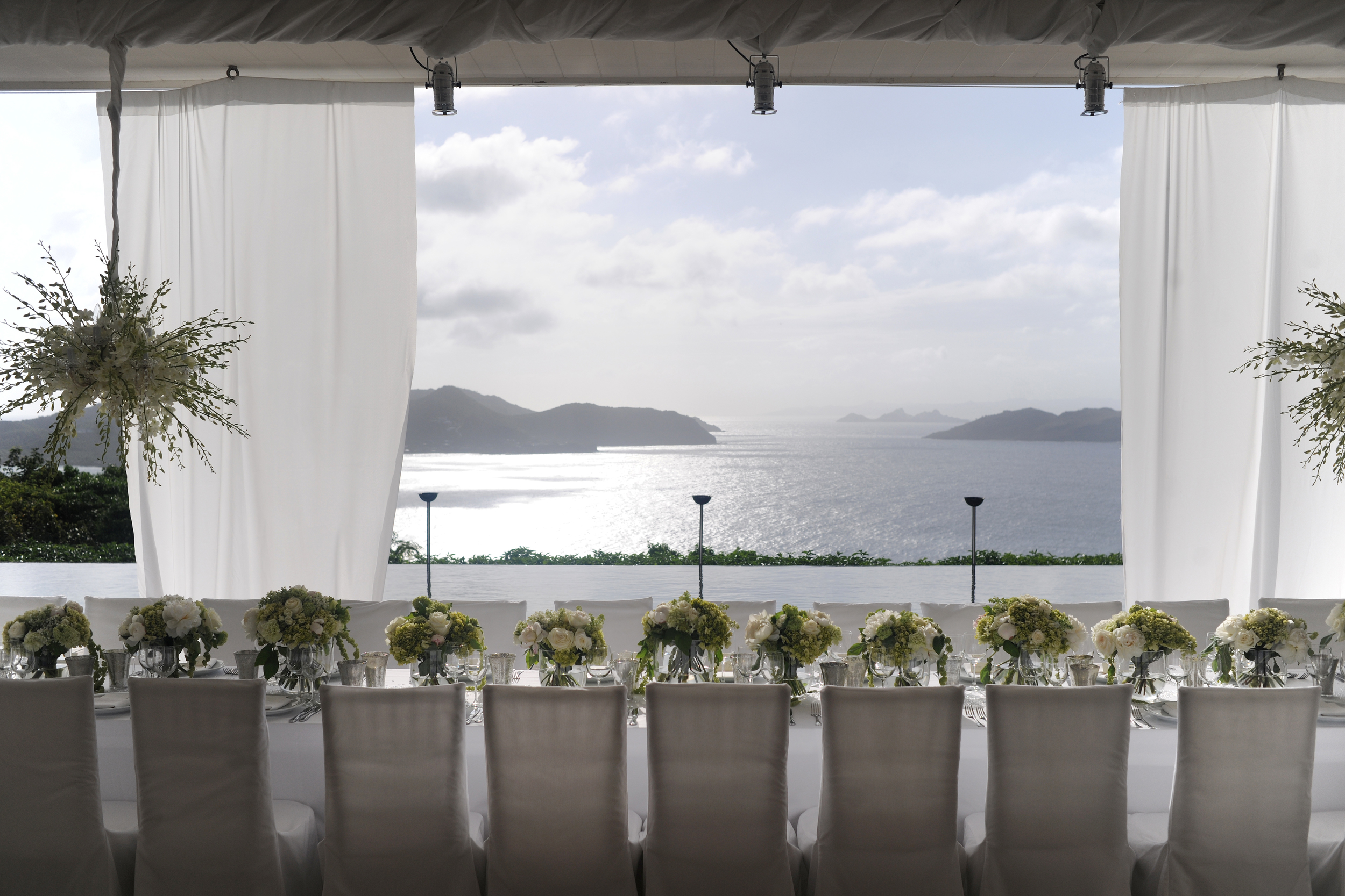 St Barths Private Villa Reception Dinner