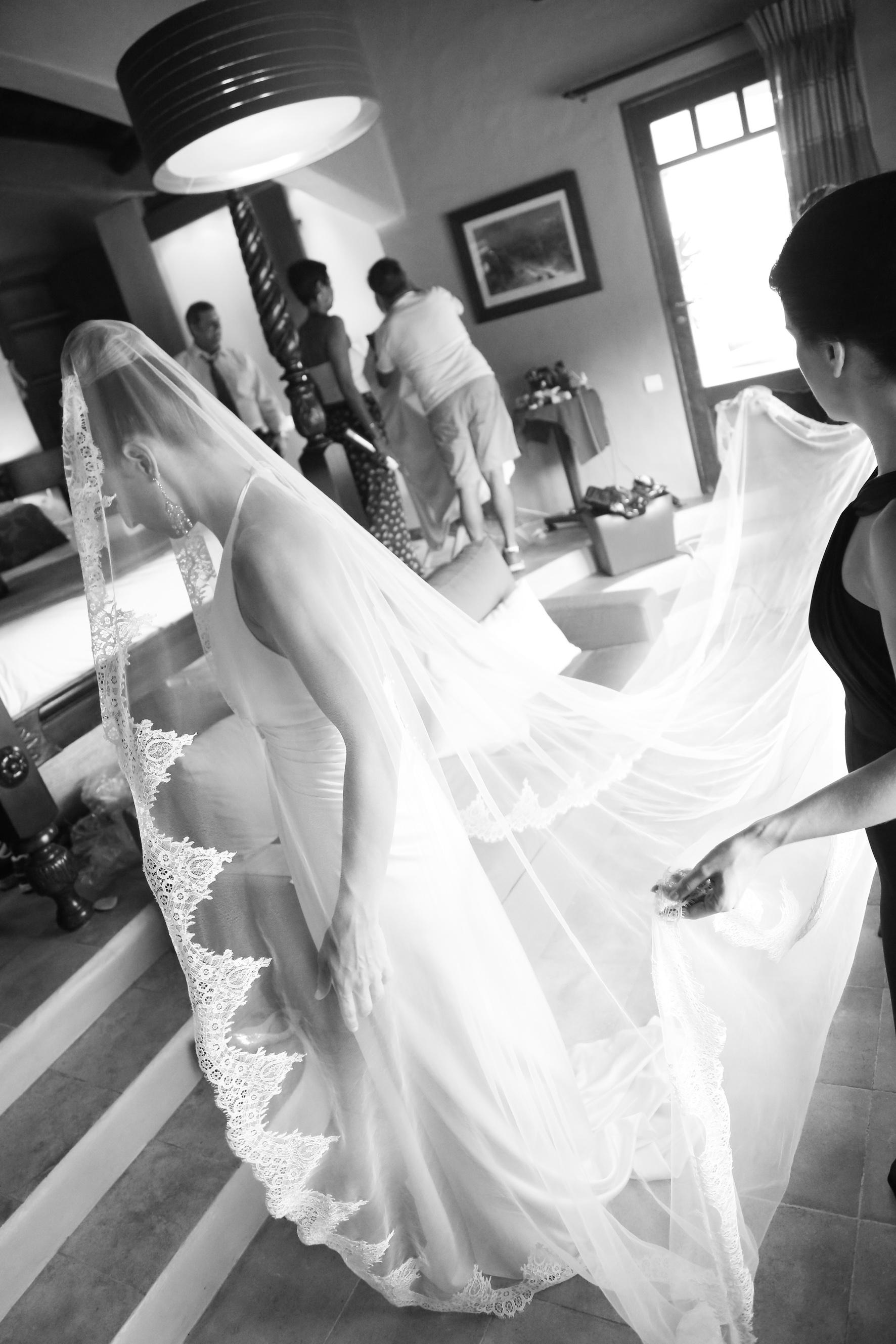 St Barths Wedding Dress. Wedding Planners St Barths