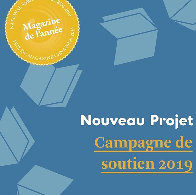La grande campagne de soutien annuelle de Nouveau Projet bat son plein! Profitez-en pour économiser tout en soutenant notre magazine. Lien dans la bio.